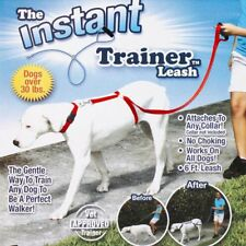 Portable Dog Leash Instant Trainer Rope for Dogs Pet 30lbs Stop Pulling Blue/Red