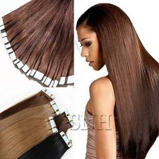 Straight 20Pcs/50g 40Pcs/100g Skin Weft Tape In Remy Human Hair Extensions I331