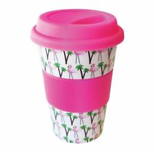 New eCup Eco Friendly Ceramic Pattern Travel Cup With Silicone Lid