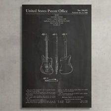 """Pingo World Patent Prints """"Fender Electric Guitar"""" Graphic Art on Wrapped Canvas"""