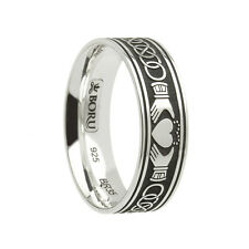 Claddagh Wedding Band & Celtic Knots Sterling Silver