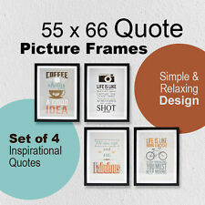 Inspirational Quote 50 X 66 Picture Frame Simple Relaxing Life Wall Decoration