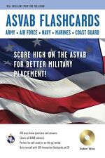 ASVAB Flashcard Book with CD by The Staff of Rea 9780738609089 (Paperback, 2011)