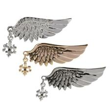 Silver/Gold Crystal Punk Wings Style Collar Pin Brooch Gold Gift Accessories