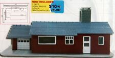 N Scale- Suburban Ranch w/Pool, BUILDING KIT, w/Free Extras MDP-1588