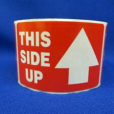 "This Side Up 2""x3"" - Packing Shipping Handling Warning Label Stickers"