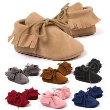 New Infant Newborn Baby Girl Soft Sole Boots Toddler Tassel Moccasin Crib Shoes