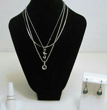 Sterling Silver Jewelry Lot Chains Necklaces Shoe Pendant Earrings Silpada Ring