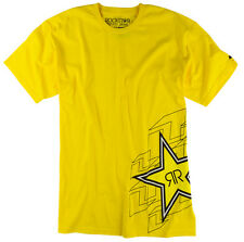 ONE INDUSTRIES MEN'S ROCKSTAR PUZZLED TEE T-SHIRT YELLOW adult motocross mx mtb