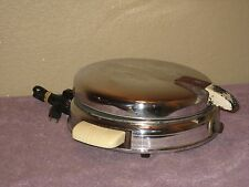 Vintage 1941 Retro Chrome Waffle Maker by Manning Bowman 800 Watt