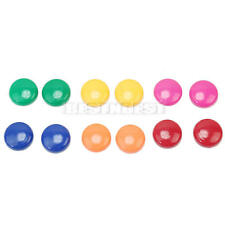 12X 30mm Office Note Paper Whiteboard Magnetic Colorful Round Button Magnet