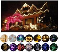 2M-100M 10-100LED Battery Powered Flexible Fairy String Lights Party Xmas Decor