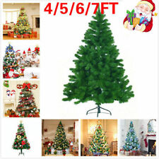 TRADITIONAL GREEN INDOOR ARTIFICIAL CHRISTMAS XMAS TREE DECORATION NEW