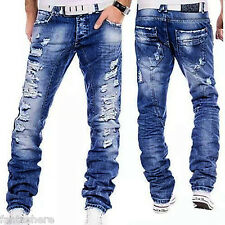 Casual Mens Stylish Designed Straight Slim Fit Jeans Trousers Jean Pants Fashion