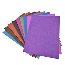 A4 Glitter Card 10 Sheets Same Colour Soft Touch DIY Crafts Invitations Party