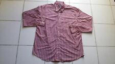 Men's Nautica Button Up Casual Shirt XL Wrinkle Resistant Burgundy/Red Striped