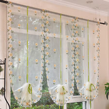 New Voile Door Window Curtain Room Sheer Drape Panel Floral Scarf Sheer Valance