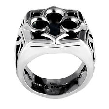 Stephen Webster Sterling Silver Black Mother of Pearl Aces Signet Ring