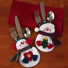 Christmas Clothes Tableware Cutlery Silverware Stocking Holder Dinner Decor