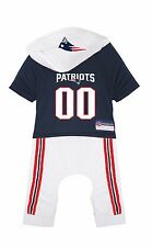 New England Patriots Dog Uniform Onesie Shirt Officially Licensed NFL Product