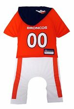 Denver Broncos Dog Uniform One-Piece Officially Licensed NFL Football Product