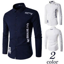 Mens Luxury Business Stylish Slim Fit Long Sleeve Linen Casual Leisure Shirt