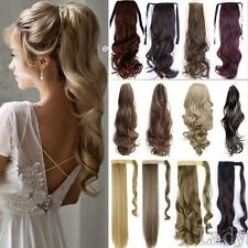 Real Thick Hot Wrap Around Ponytail Clip In Hair Extensions Brown As Human Fkt