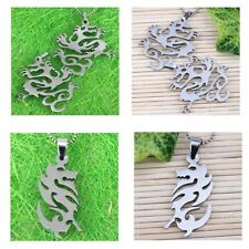 Cool 316 Stainless Steel Dangle Dragon Pendant Fit Chain Necklace Jewelry Gift