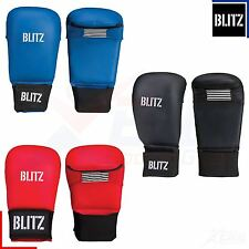 Blitz PU Elite Mitt Without Thumb Martial Arts Karate Sparring Gloves XS, S, M