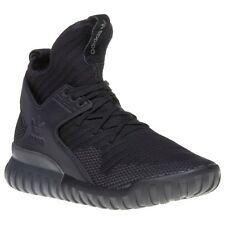 New Mens adidas Black Tubular X Primeknit Nylon Trainers Running Style Lace Up