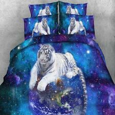 White Tiger Quilt Duvet Doona Cover Set Single/Queen/King/Super King Bed Size