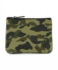 A BATHING APE 1ST CAMO LEATHER WALLET (S) Mens BAPE Original Moneybag From Japan