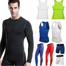 Women Mens Sports Compression Base Layers Tops Tight T-Shirt/Vests/Pants Shorts