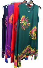 NEPALESE TIE DYE COTTON SUMMER SUN DRESS 10 12 14 16 18