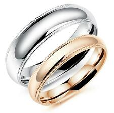 Couples stainless steel wedding engagement ring partner anniversary band Sz 5-10
