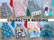 DISNEY CHARACTER KIDS BOYS GIRLS TV DUVET QUILT COVER BEDDING SINGLE COT DOUBLE
