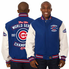Chicago Cubs JH Design 2016 World Series Champions Two-Tone Wool Leather Jacket