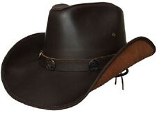 Lucky Trails Buffalo Brown Shapeable Handmade Leather Western Cowboy Hat