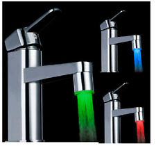 RGB/1/3 Color Temperature Sensor Water Tap Faucet Shower Colorful LED Light CA