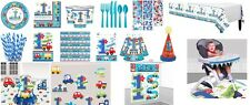 All Aboard 1st Birthday Plates,Cups,Napkins,Confetti,Tableware Decoration Party