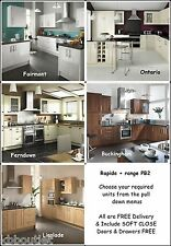 Cottage Tongue Groove Cream Kitchen Units + other styles FREE worktop taps sink