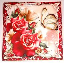Handmade Greeting Card 3D All Occasion With Flowers And A Butterfly