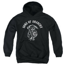 Sons Of Anarchy Soa Reaper Big Boys Youth Pullover Hoodie BLACK