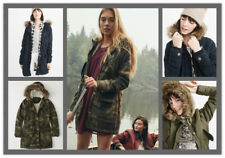 NWT Abercrombie & Fitch By Hollister Women Jacket SHERPA-LINED MILITARY PARKA