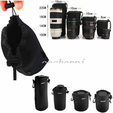 S/M/L/XL Neoprene Lens Pouch Case Bag Cover For Nikon Sony Canon DSLR Camera F5