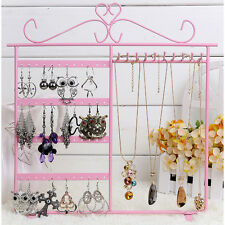 48 Hole Earrings Necklace Bracelet Jewelry Display Metal Stand Rack Holder New
