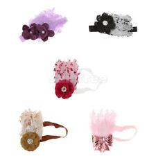 Cute Baby Kid Girl Infant Toddler Feather Headband Lace Flower Hair Band 5 color