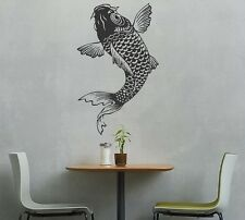 Large Ancient Japanese Koi Fish Drawing Vinyl Auto Graphic Decal Sticker