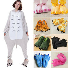 Adult Kids Cartoon Animal Cosplay Costume Warm Slippers Dinosaur Claw Paw Shoes