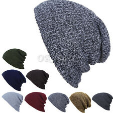 Winter Unisex Couple Knit Baggy Beanie Hat Ski Slouchy Chic Knitted Cap Coffee